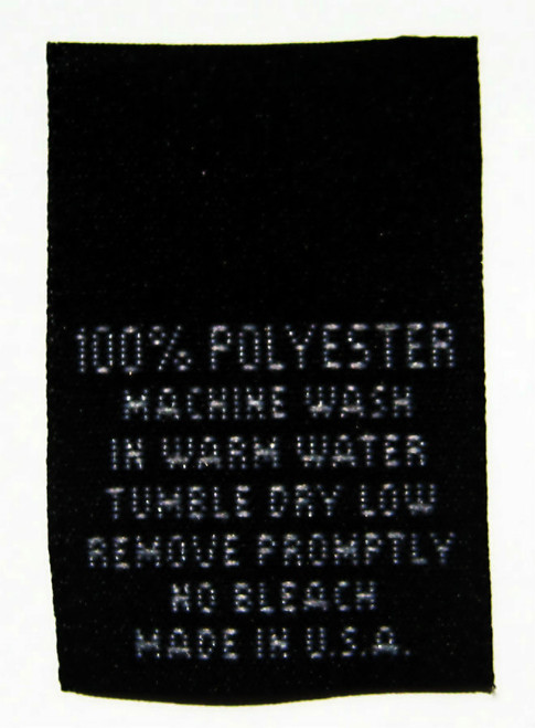 Black 100% Polyester Woven Clothing Sewing Garment Care Label Tags