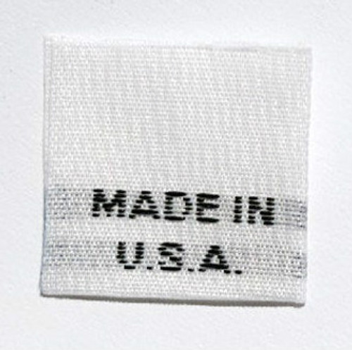 White Made in USA Woven Clothing Sewing Garment Care Label Tags