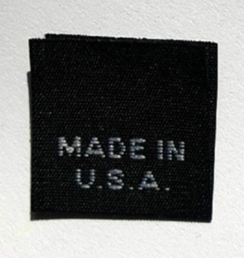 Black Made in USA Woven Clothing Sewing Garment Care Label Tags