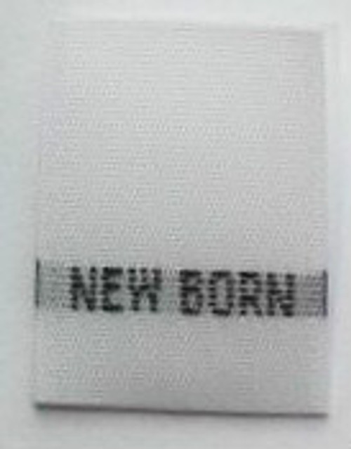 White New Born NB Woven Infant Clothing Sewing Garment Label Size Tags