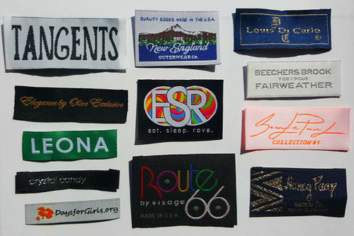 Custom Logo Professional Color Damask Woven Clothing Sewing Labels