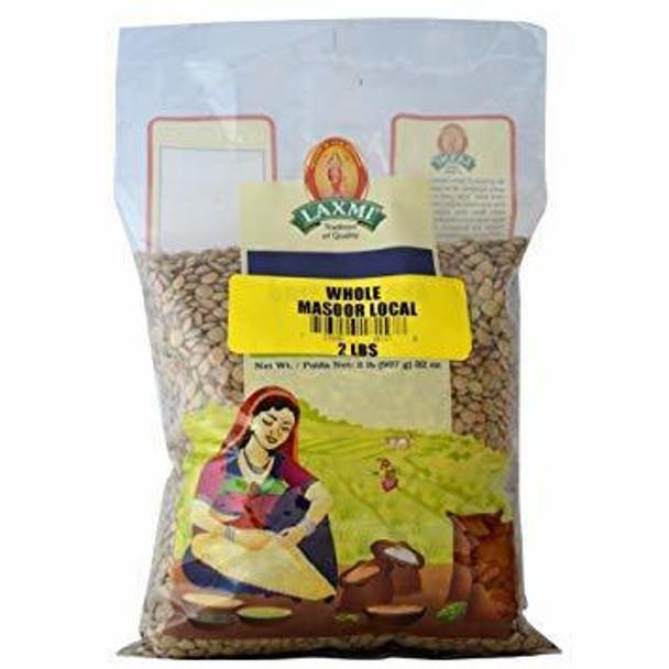 Laxmi Whole Masoor 2lbs - Laxmi