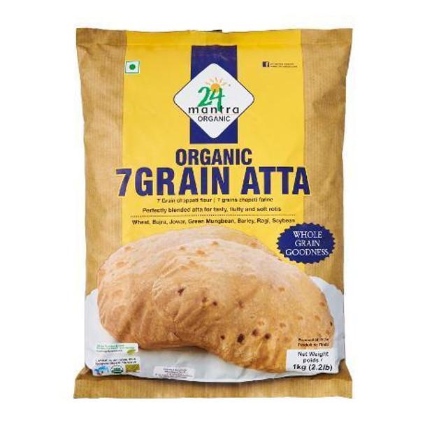 24 Mantra Organic 7 Grain Atta - 24 Mantra 2 LB