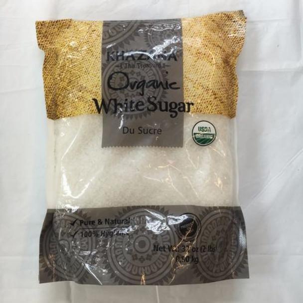 Khazana Organic White Sugar 2lbs - Khazana