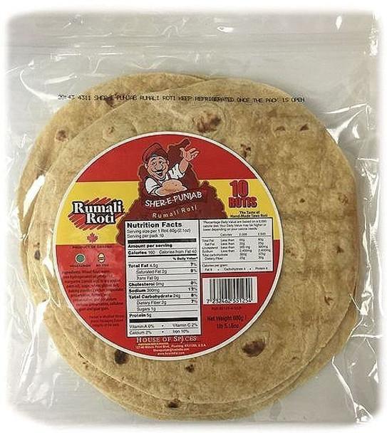 Sher -e- Punjab Rumali Roti 10 Rotis - Sher -e- Punjab