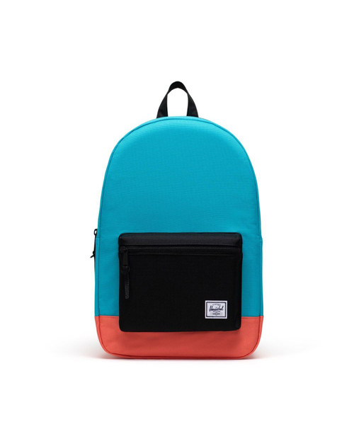 Settlement Backpack in Blue Bird/Black/Emberglow