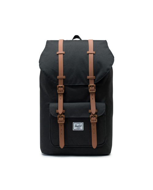 Herschel Little America Backpack in Black/Saddle Brown