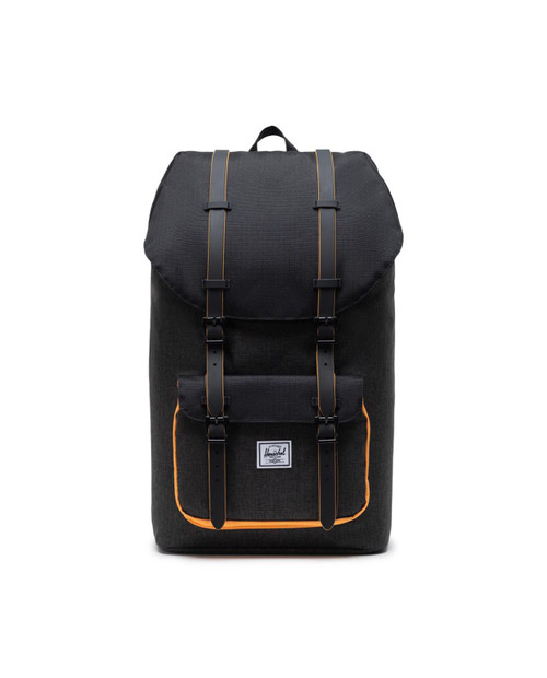 Little America Backpack in Black Crosshatch/Black/Blazing Orange