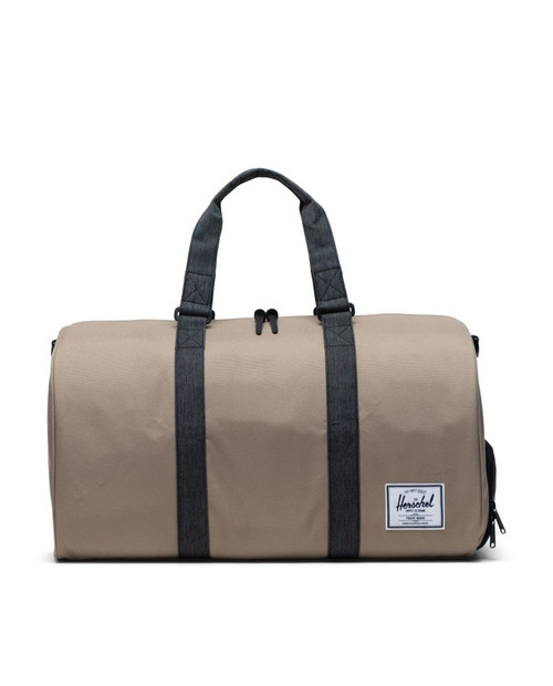 Novel Duffle in Timberwolf/Black Denim