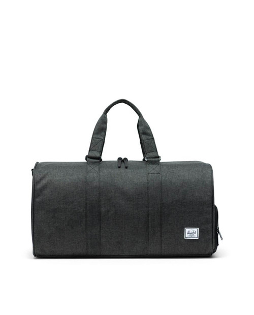 Novel Mid-Volume Duffle in Black Crosshatch