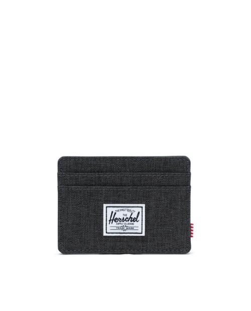 Charlie RFID Wallet  in Black Crosshatch