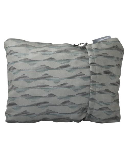 Compressible Pillow, L - Gray Mountains Print
