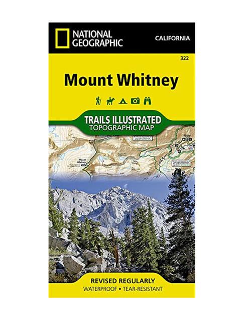 NATIONAL GEO MAPS Mount Whitney #322