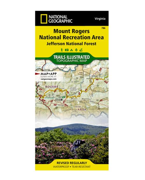 NATIONAL GEO MAPS Mt. Rogers Nat Rec Area #786