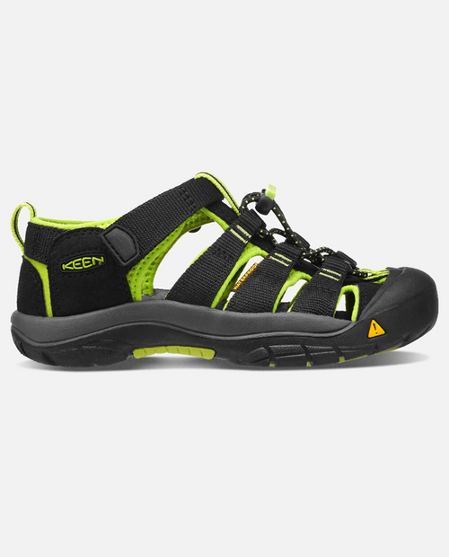 Kids Newport H2 in Black / Lime Green