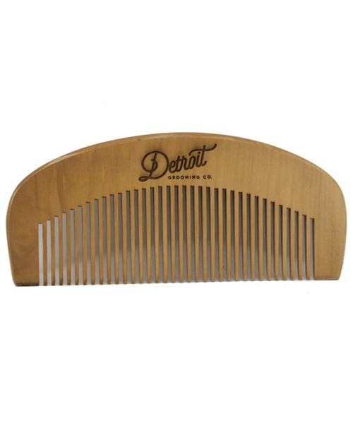 DETROIT GROOMING CO Peach Wood Comb