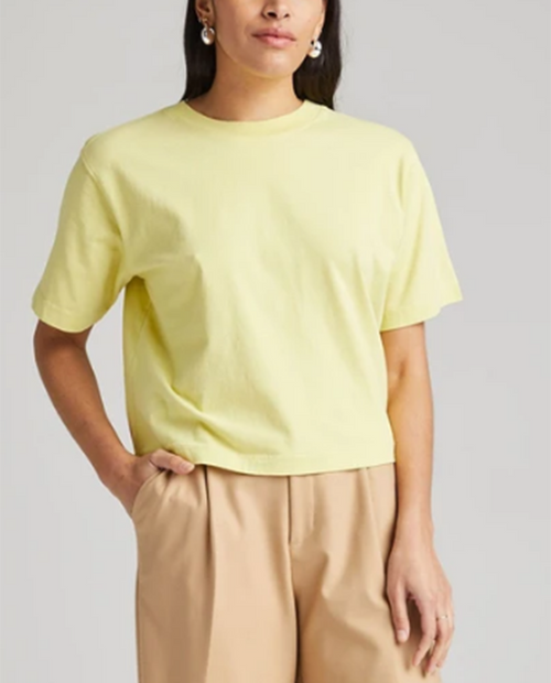 Womens Relaxed Crop Tee
