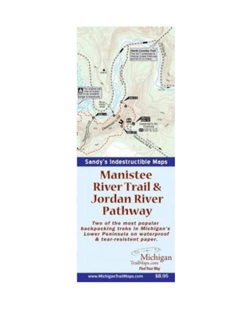 MICHIGAN TRAIL MAPS Waterproof: Manistee and Jordan River Trails