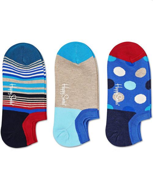 HAPPY SOCKS Variegated Stripes Sneaker Liner 3-Pack