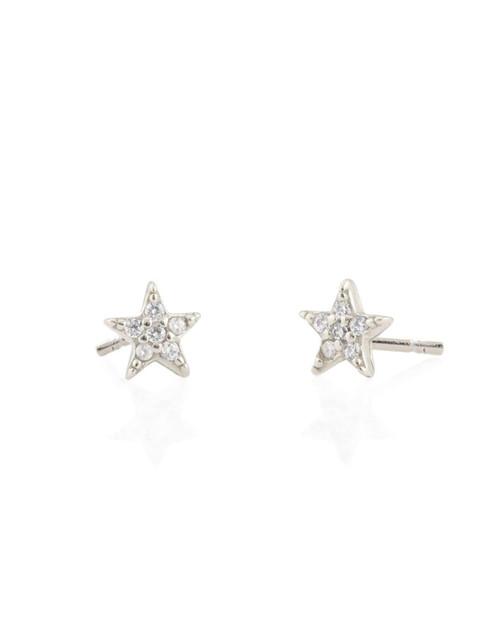 Star Pave Stud Earrings