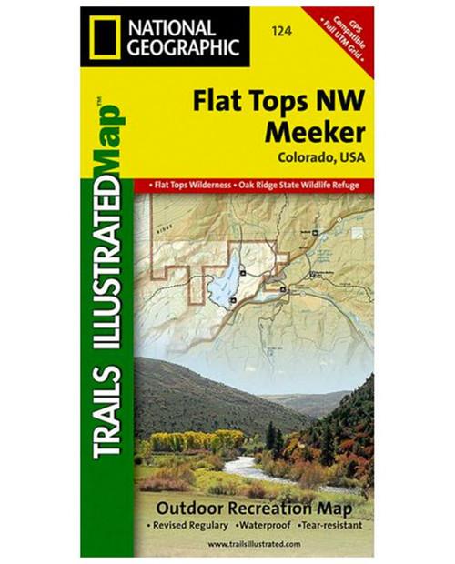 NATIONAL GEO MAPS Flat Tops NW Hiking Map (TI 124
