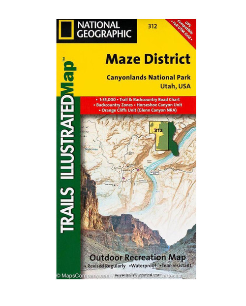 NATIONAL GEO MAPS Maze District Hiking Map