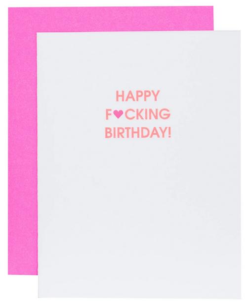 Happy Fucking Birthday Heart Card