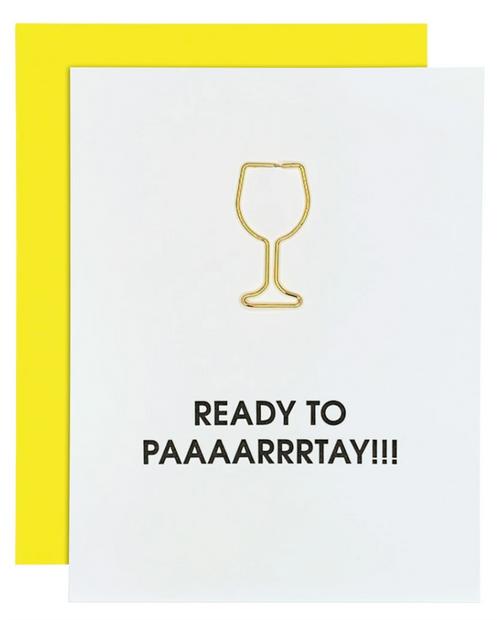 Ready  to Paaarrrtay Joke Birthday Card