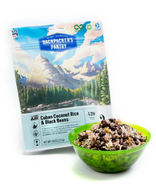 BACKPACKERS PANTRY Cuban Coconut Black Beans and Rice