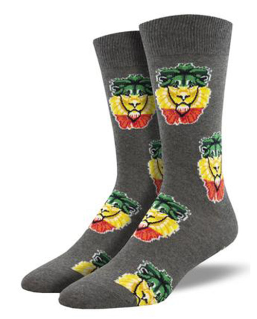 SOCKSMITH Mens Rasta Lion Socks
