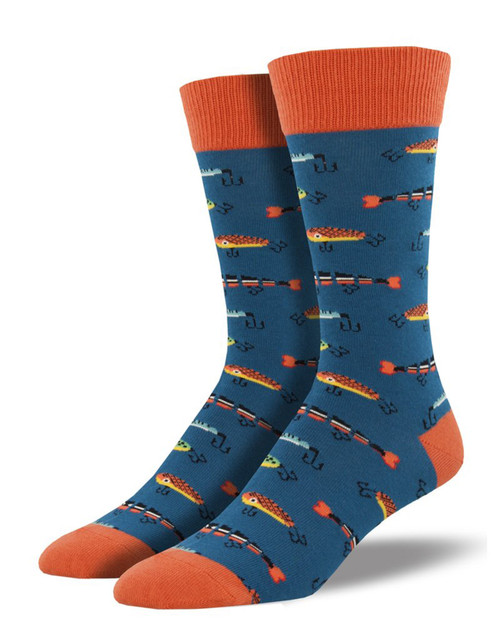SOCKSMITH Mens Just Fishin' Socks