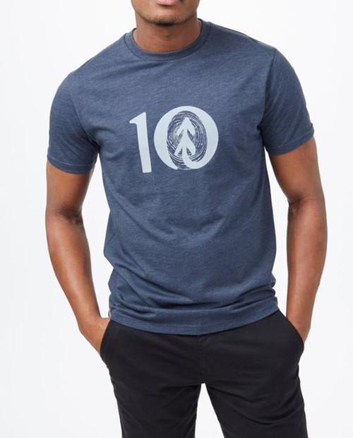 TEN TREE Mens Woodgrain Ten T-Shirt