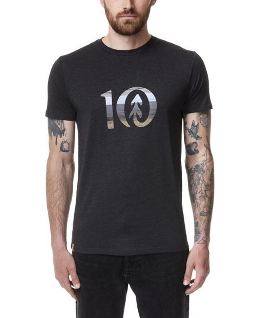 TEN TREE Mens Spruce Stripe Ten T-Shirt