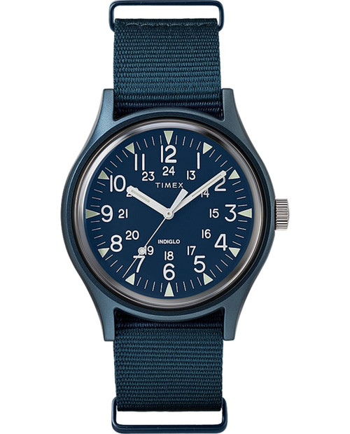 TIMEX MK1 Aluminum in Blue with Nylon Band in Blue