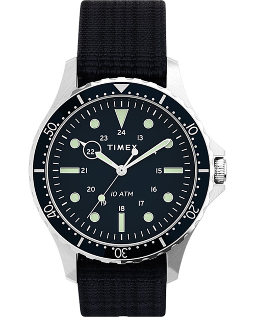 TIMEX Navi 41mm with Fabric Strap in Blue