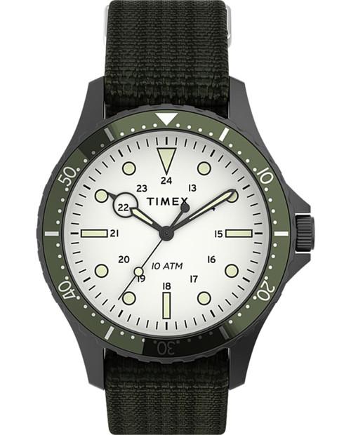 Navi 41mm Fabric Strap Watch In Green