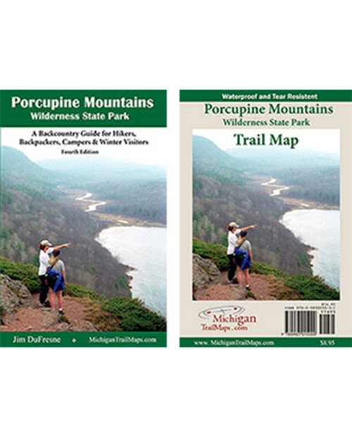 MICHIGAN TRAIL MAPS Waterproof Map: Porcupine Mountains State Park