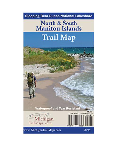 MICHIGAN TRAIL MAPS Waterproof Maps: North & South Manitou Islands