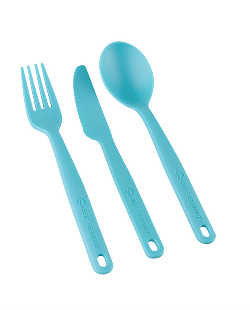 SEA TO SUMMIT Camp Cutlery Utensil Set in Pacific Blue
