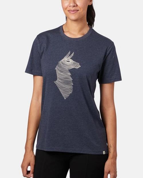 Womens Topo Llama T-Shirt in Graphite