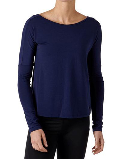 Womens Cala Oversized Active Long-Sleeve T-Shirt in Maritime