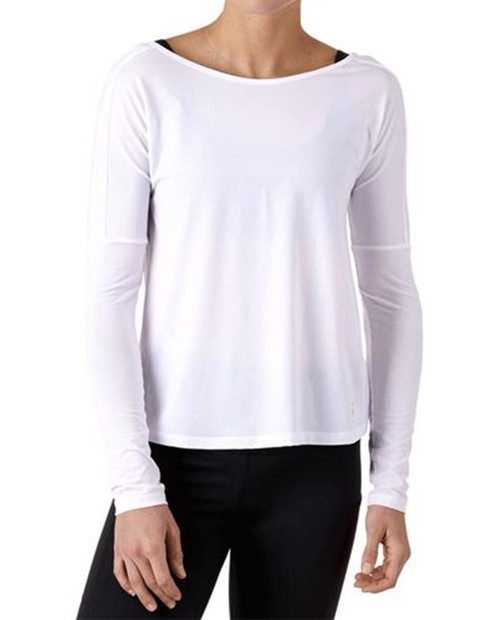 Womens Cala Oversized Active Long-Sleeve T-Shirt in White