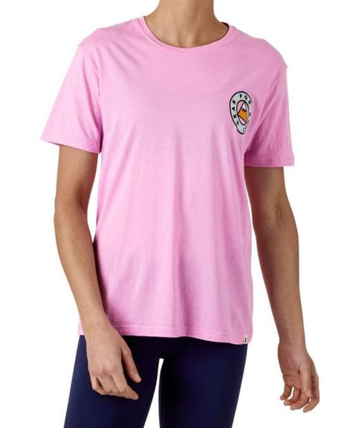 Womens Circle Mountain T-Shirt in Lilac