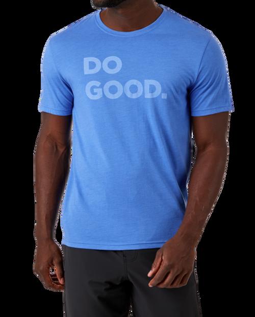 Mens Do Good T-Shirt in Azul