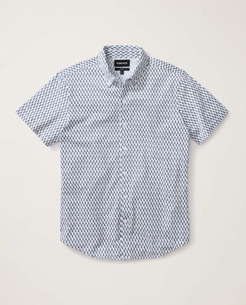 Mens Short Sleeve Knit Button Down