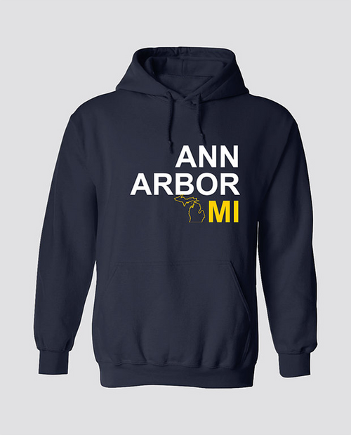 Michigan Map Hoodie