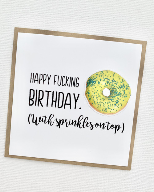 Mini Birthday Sprinkles Doughnut Card