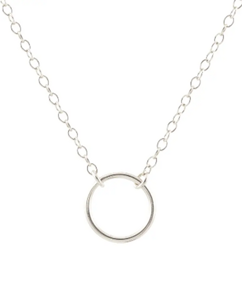 Simple Circle Charm Necklace