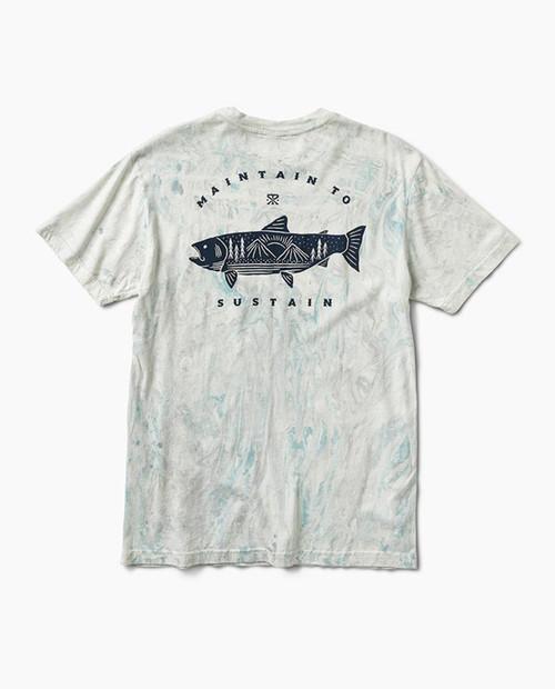 Mens Salmon Mountain S/S Shirt in Marine