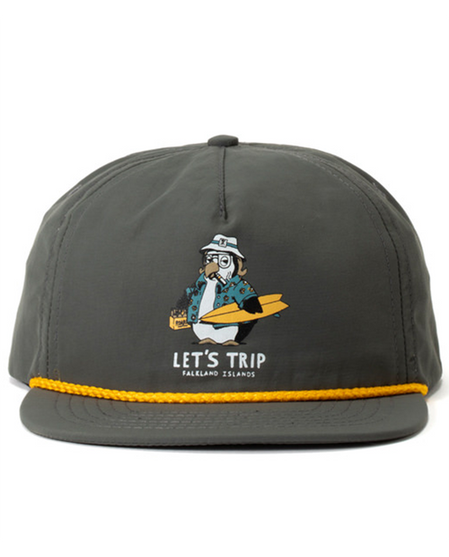 Lets Trip Hat in Charcoal
